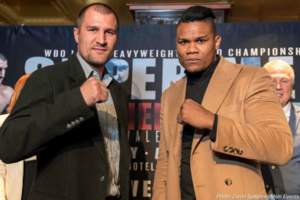 Kovalev And Alvarez Face Off In Times Square