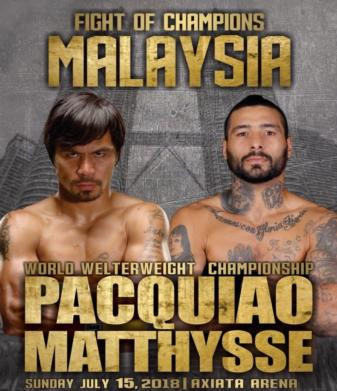 Pacquiao overwhelms Matthysse, wins by knockout
