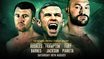 Frampton stops Jackson, Fury wins to setup showdown with Wilder