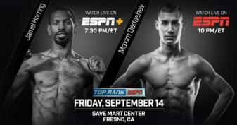 Undercard set for Sept.14 card in Fresno
