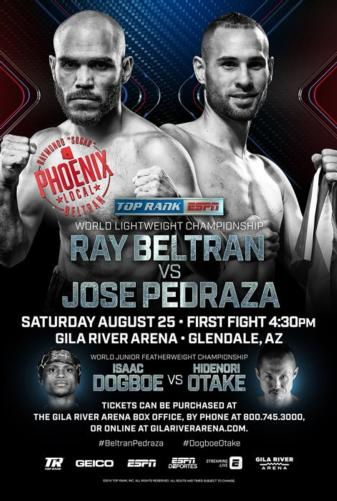 Beltran vs. Pedraza Aug.25