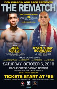 Expect bombs to be landing October 6 as Diaz and Bourland go for broke