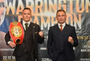Warrington Believes Frampton Is Underestimating Him