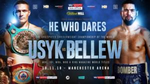 Usyk vs Bellew Official for November 10th Manchester