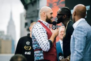 Wilder Vs Fury Press Tour Arrives In New York