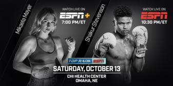 October 13: Shakur Stevenson vs. Duane Vue headlines Crawford-Benavidez undercard