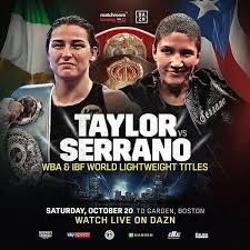 Taylor dominates Serrano, calls out undefeated sister