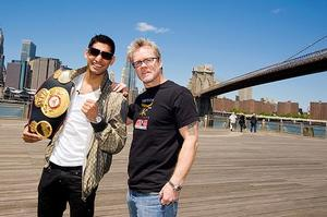 Khan and Roach make a good team (pic Jeff Fusco)