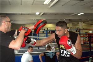 Ali Adams with previous trainer Johnny Eames