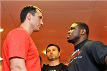 Klitschko and Peter go head to head