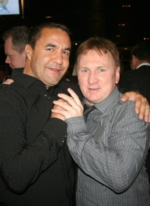 three division world champion Jeff Fenech & Hall of Fame Chairman Brett McCormick