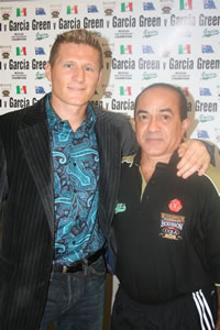 Danny Green left, with trainer Ismael Salas
