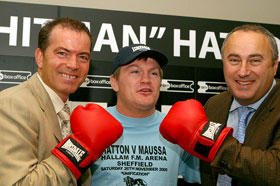 Hobson (left) and Waterman (r) delivered the fight Hatton wanted (by Mr Will)