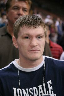 Hatton (pictured) was in no mood to be messed about by Pretty Boy (pic Hogan Photos)