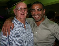 Johnny Lewis (left) with super middleweight Sam Soliman