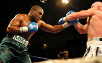 Back in form Sprott (left) fights for European title on Oct 1 (pic Mr Will)